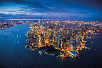 Plakát New York - Jason Hawkes