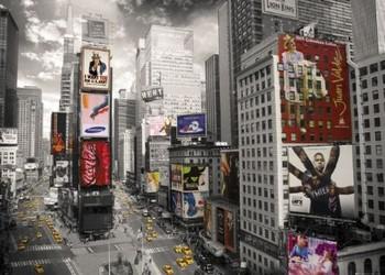New York - Times square II. plakát, obraz