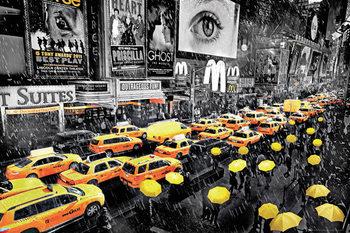 New York - umbrella plakát, obraz