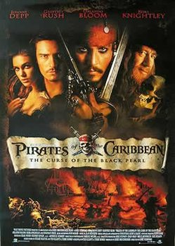 Plakat Piraci z Karaibów - Johnny Depp