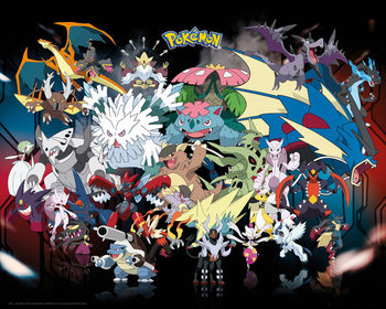 Plakat Pokémon - Mega