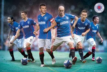 Plakát Rangers FC - Players 13/14