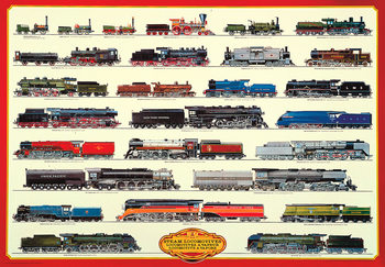 Plakat Steam locomotives II