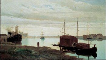 Reprodukcja The Giudecca Canal - Il canale della Giudecca, 1869