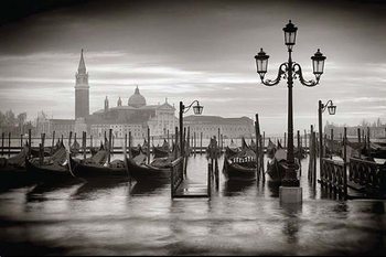 Plakat Wenecja - b&w