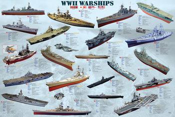 Plakát World war II - war ships