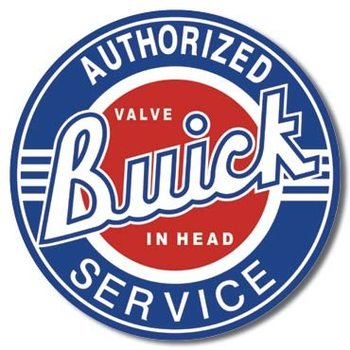 BUICK SERVICE Plåtskyltar