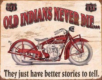 Plechová cedule INDIAN - better stories