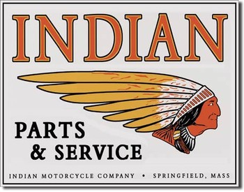Plechová cedule INDIAN - logo