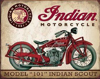 Plechová cedule INDIAN MOTORCYCLES - Scout Model 110