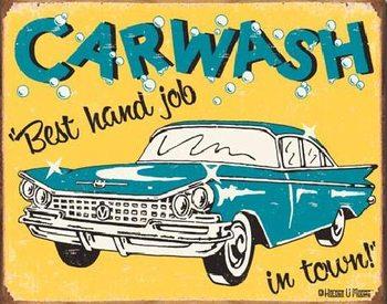 Plechová cedule MOORE - CARWASH - Best Hand Job In Town