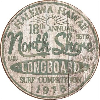 Plechová cedule North Shore Surf