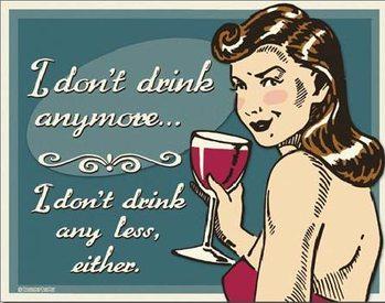 Plechová cedule SCHONBERG - Don't Drink Anymore