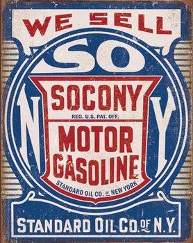 Plechová cedule Socony Gasoline