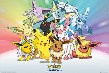 Pokemon - Eve - плакат (poster)