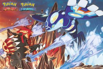 Pokemon - Groudon and Kyogre - плакат (poster)