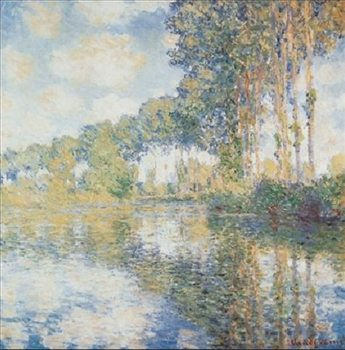 Poplars on the Banks of the River Epte Reproduction d'art