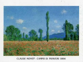 Poppy Field in Giverny, 1890 Reproduction d'art