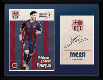 Barcelona - Messi Vintage 16/17 Inramad poster