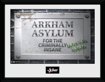Batman Comic - Arkham Asylum Sign Poster & Affisch