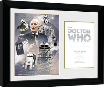 Doctor Who - 1st Doctor William Hartnell Inramad poster