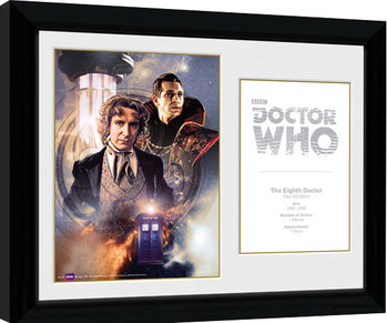 Doctor Who - 8th Doctor Paul McGann Inramad poster