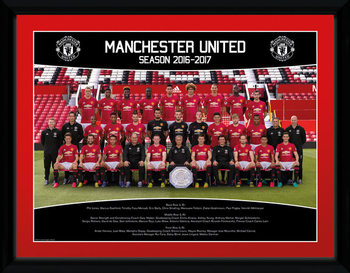 Manchester United - Team Photo 16/17 Inramad poster