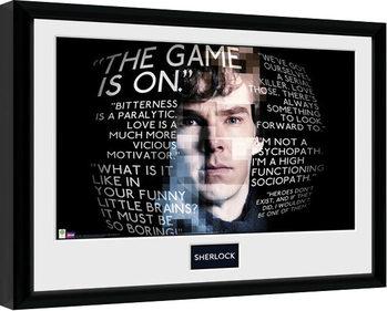 Sherlock - Sherlock Quotes Inramad poster