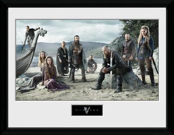 Vikingovia - Beach Inramad poster