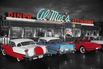 Póster Al Mac's diner