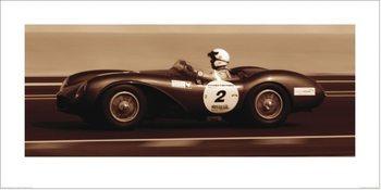 Aston Martin DB3S 1955, Ben Wood Kunstdruk