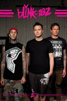 Poster Blink 182 - euro tour
