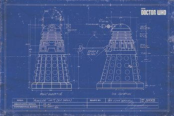 Póster Doctor Who - Dalek Blueprint