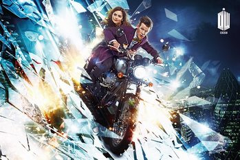 DOCTOR WHO - motorcycle Poster / Kunst Poster