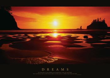 DREAMS - sunset Poster / Kunst Poster