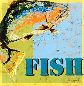 Fish Poster / Kunst Poster