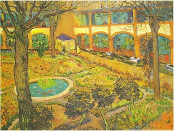 Garden of the Hospital in Arles, 1889 Kunstdruk