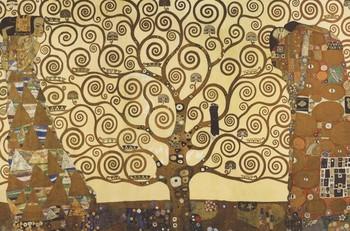 Póster Gustav Klimt - Árbol de la vida