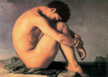 H. Flandrin - Young Man by the Sea Kunstdruk