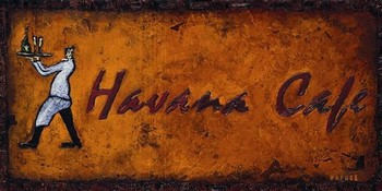 HAVANA CAFE Kunstdruk