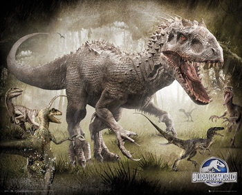 Póster Jurassic World - Raptors