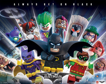 Póster Lego® Batman - Always Bet On Black