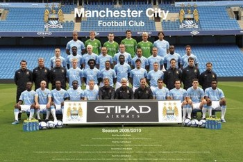 Póster Manchester City - Team 09/10