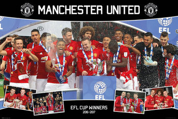 Póster Manchester United - EFL Cup Winners 16/17