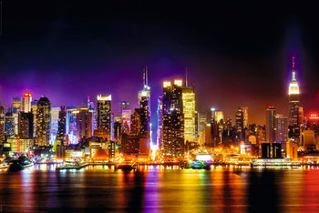 MANHATTAN SKYLINE - reflection Poster / Kunst Poster