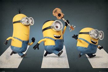 Póster Minions (Gru: Mi villano favorito) - Abbey road