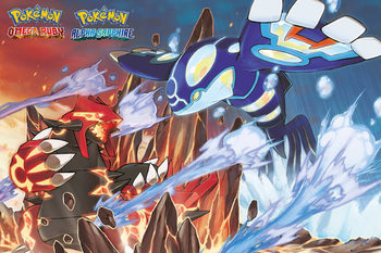 Póster Pokemon - Groudon and Kyogre