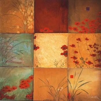 Poppy Nine Patch Poster / Kunst Poster
