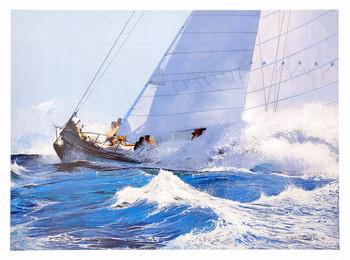 Racing Waves Kunstdruk