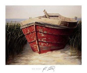 Red Boat Kunstdruk